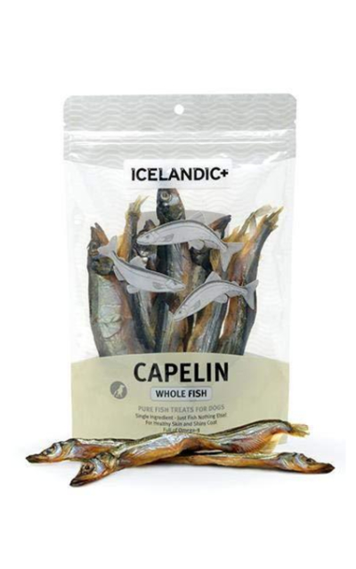 Icelandic+ Capelin Whole Fish Dog Treat 2.5-oz Bag