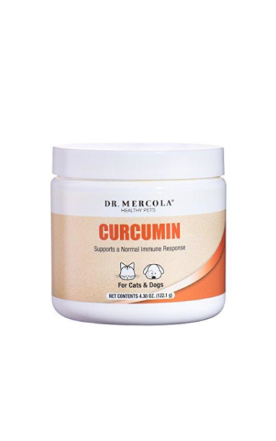 Dr. Mercola Curcumin for Pets - with Microactive Curcumin from Turmeric - Immune System Booster for Dogs & Cats - Premium Pet Supplements