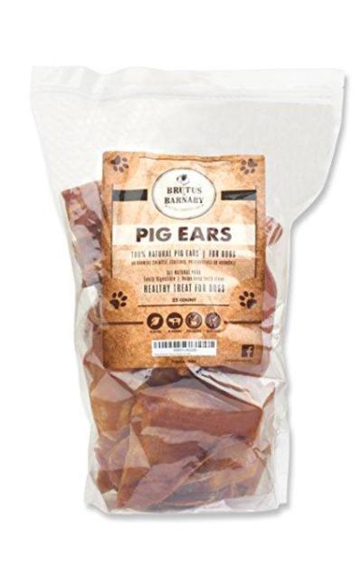 Brutus & Barnaby 100% Natural Whole Pig Ear Dog Treat