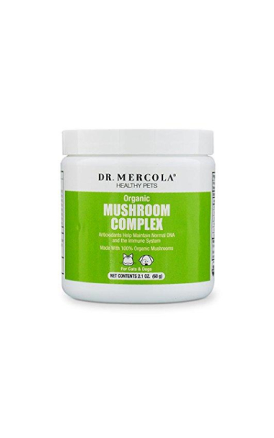 Dr. Mercola Organic Mushroom Complex for Pets - Packed with Protein/Whole Foods - Helps Maintain Immune Function/Normal DNA - Premium Pet Care Supplement