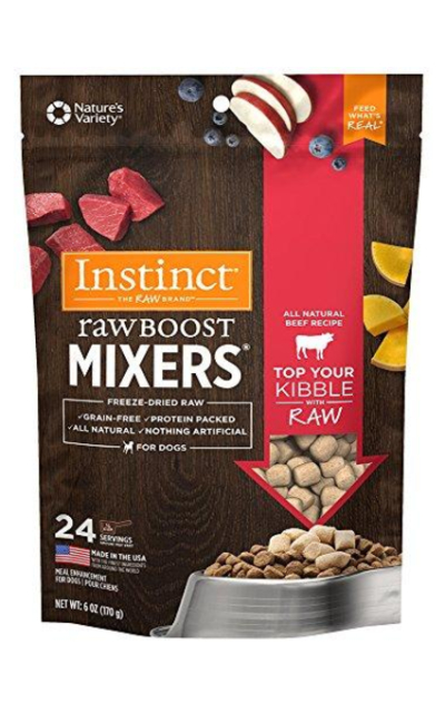 Instinct Freeze Dried Raw Boost Mixers Grain Free Recipe All Natural Dog Food Topper by Nature's Variety All Natural Beef