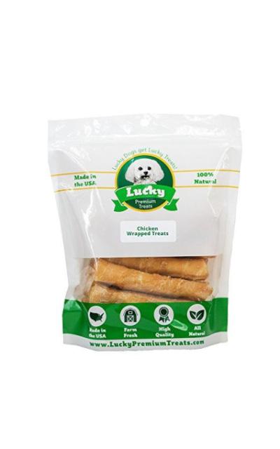 Chicken Wrapped Rawhide Dog Treats, Gluten Free Dog Treats