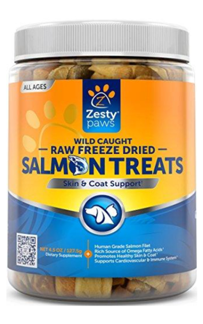 Freeze Dried Salmon Filet Treats for Dogs & Cats - With Pure Raw & Wild Caught Pacific Sockeye Salmon Fish