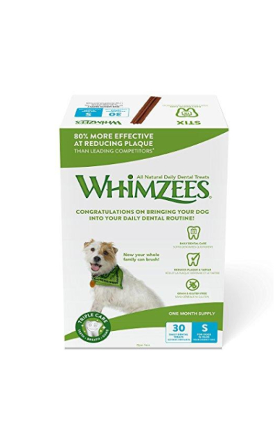 Whimzees 30 Day Pack Dog Dental Treats, Pack of 30