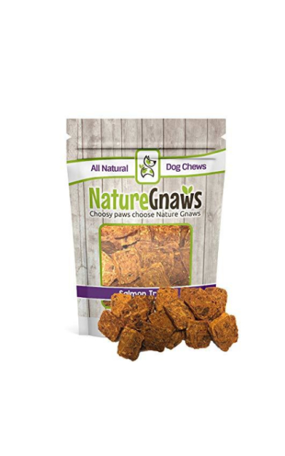 Nature Gnaws Smoked Salmon Jerky Bites - 100% Natural Grain Free Dog Treats