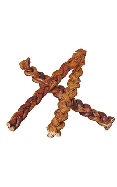 "12"" Braided Bully Sticks for Dogs"