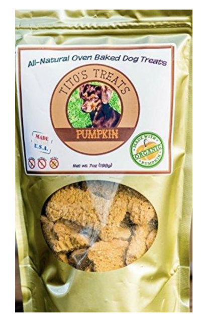 Tito's Treats Organic Pumpkin Dog Treat Oven Baked All Natural