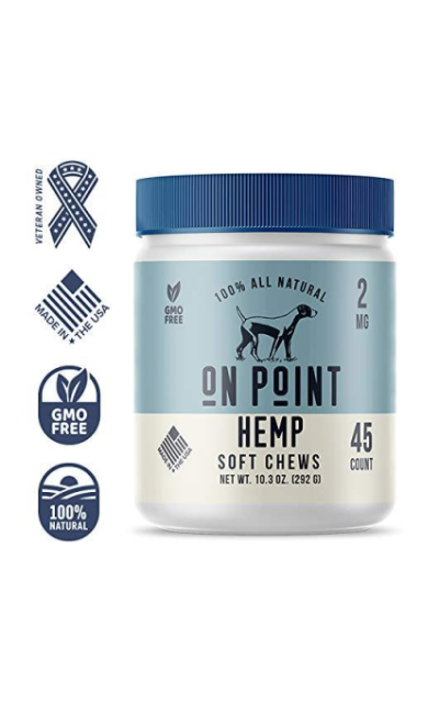 On Point Hemp All Natural Pet Chews for Pain and Anxiety Relief, 45 Count