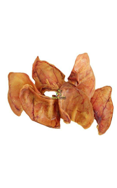 Nature Gnaws Large Whole Pig Ears - 100% All Natural Premium Thick Cut Pig Ear Dog Chews