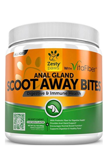Scoot Away Soft Chews for Dogs - With Digestive Enzymes & Prebiotics + VitaFiber & Pumpkin + Dandelion Root for No Scoots