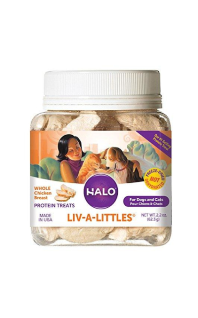 Halo Liv-A-Littles Grain Free Natural Dog Treats & Cat Treats