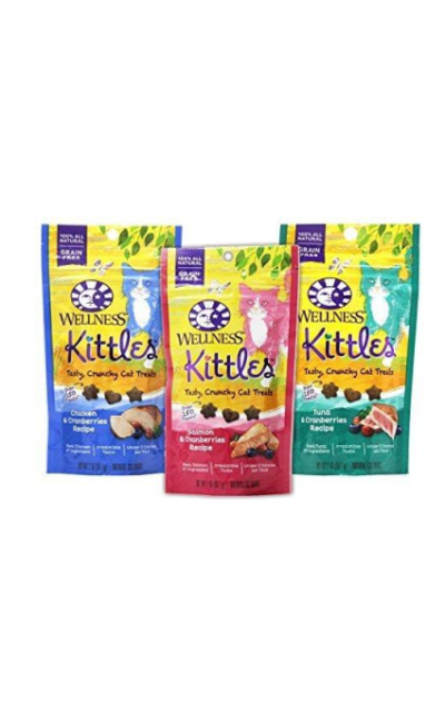 Wellness Kittles Cat Treat Variety Pack - 3 Flavors (Chicken & Cranberries, Salmon & Cranberries, and Tuna & Cranberries Flavors)