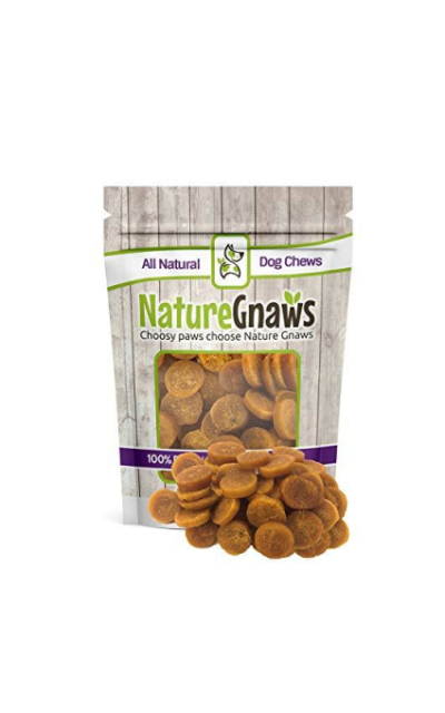 Nature Gnaws Smoked Salmon & Sweet Potato Chips - 100% Natural Grain Free Dog Treats