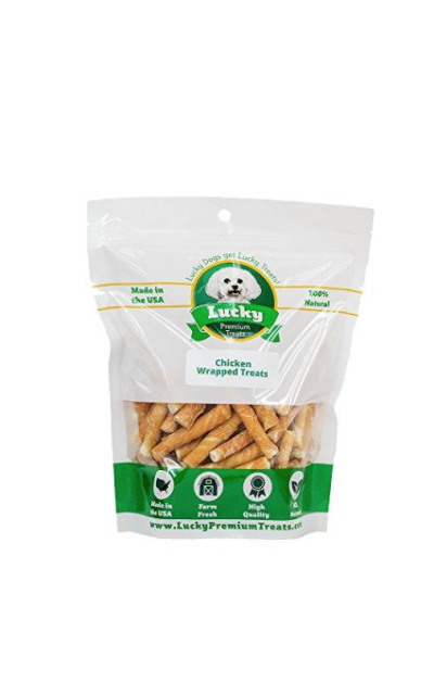 Lucky Premium Treats Chicken Wrapped Rawhide Chews