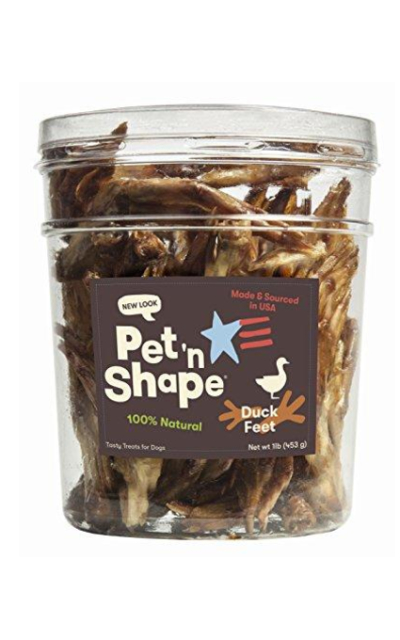 Pet 'n Shape Made in USA - All Natural Duck Feet Dog Treats