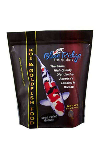 Blue Ridge Fish Food Pellets | Koi and Goldfish Growth Formula