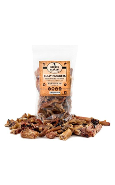 Bully Nuggets- Grass Fed Low Odor Bully Stick Bites- All Natural and Grain Free; USDA Approved