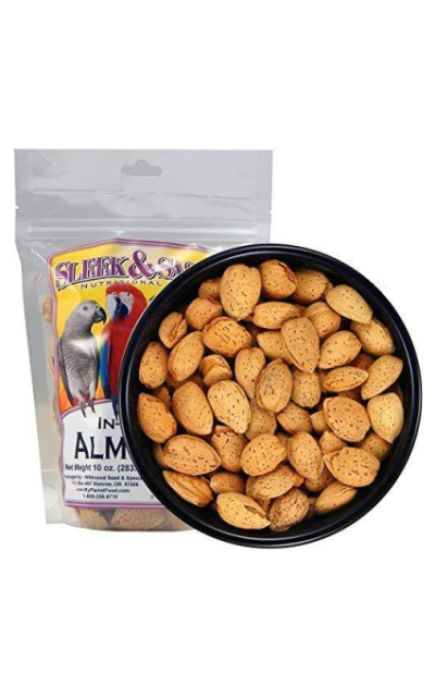 Sleek & Sassy Whole Almonds Parrot Treat