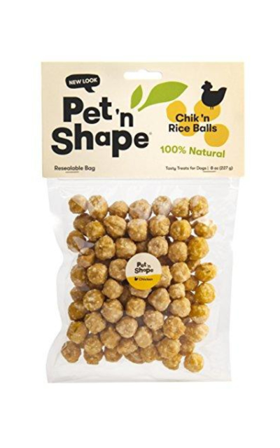 Pet 'n Shape Chik 'n Rice Balls Natural Dog Treats