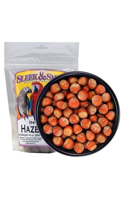 Sleek & Sassy Whole Hazelnuts (Filberts) Parrot Treat