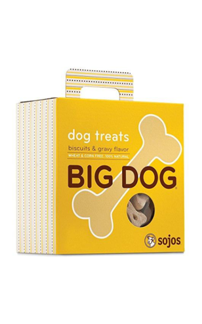 Sojos Big Dog Crunchy Natural Large Dog Treats, 12-Ounce Bag