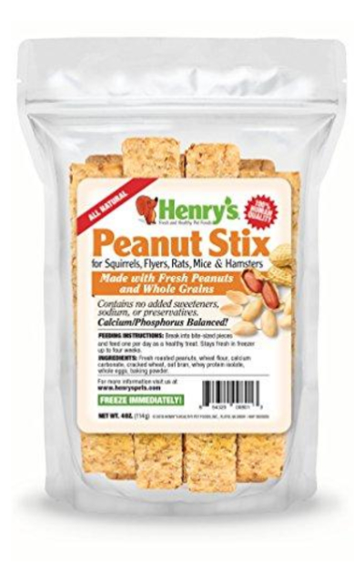 Henry's Healthy Pets Hamster & Squirrel Treats, Peanut STIX