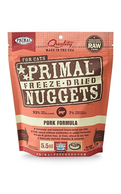 Primal FPKFD5.5 Pet Foods Freeze-Dried Feline Pork Formula, 5.5 oz.