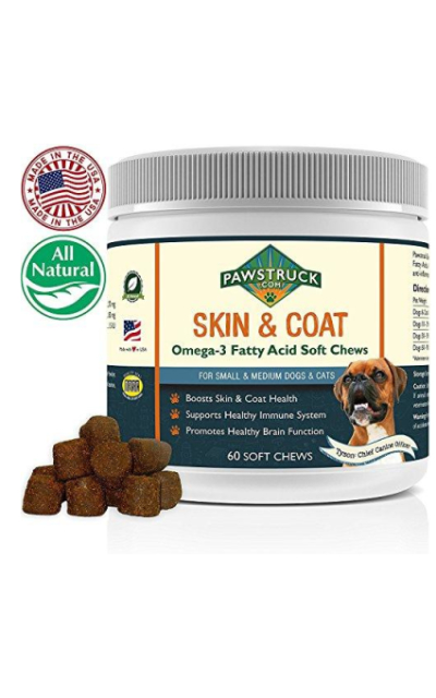 Natural Omega 3 Fish Oil for Dogs & Cats Soft Chew Supplements