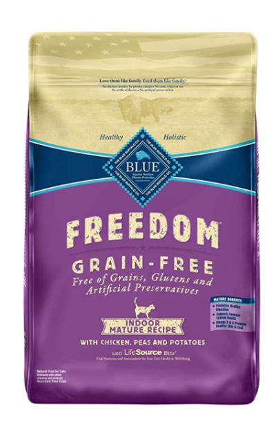 Blue Buffalo Freedom Grain Free Natural Indoor Mature Dry Cat Food