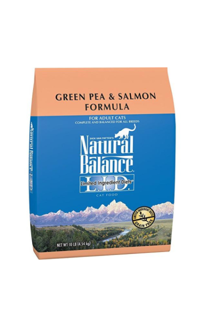 Natural Balance Limited Ingredient Dry Cat Food Green Pea & Salmon