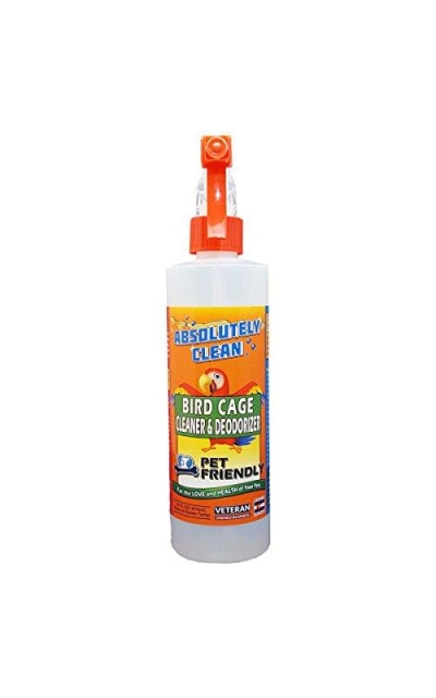 Absolutely Clean Amazing Bird Cage Cleaner and Deodorizer - Just Spray/Wipe