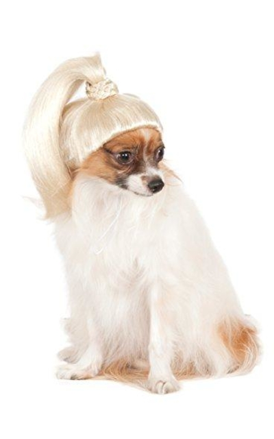 Rubie's Costume Company Pet Wig Blonde Ponytail