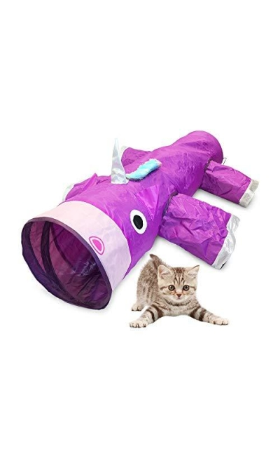 Pet Craft Supply Magic Mewnicorn Multi Cat Tunnel