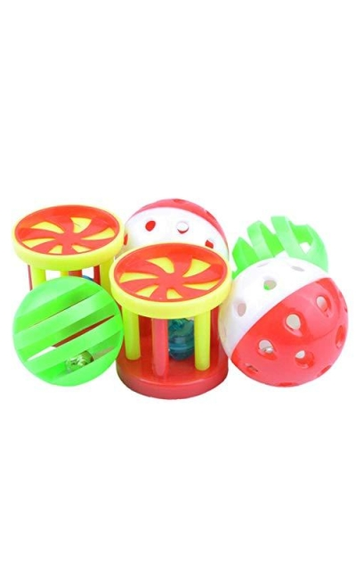 6 Pack Parrot Food Toys