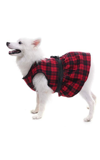 OFPUPPY Plaid Fleece Dress Jacket