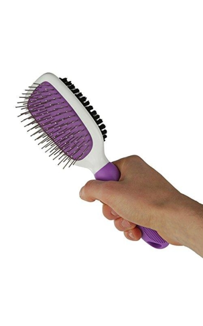 Double-Sided Pet Brush for Grooming & Massaging Dogs & Cat