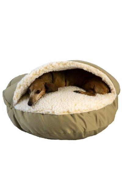 Cozy Cave Pet Bed in Poly Cotton