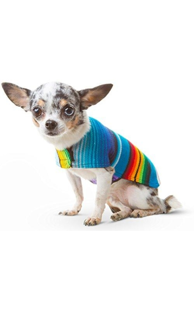 Handmade Dog Poncho from Mexican Serape Blanket