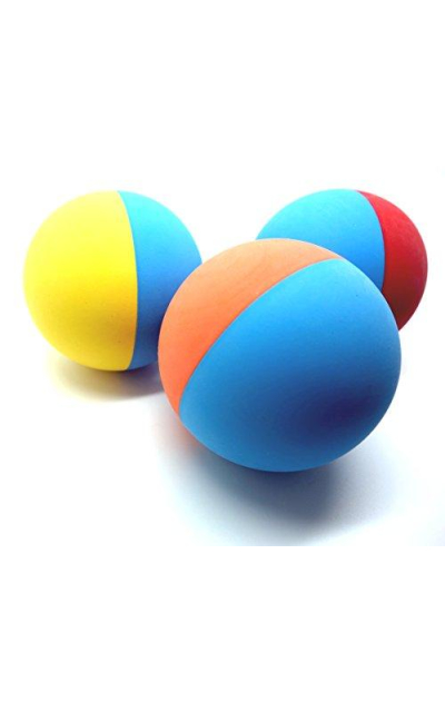 Snug Rubber Dog Balls - Tennis Ball Size - Virtually Indestructible (3 Pack)