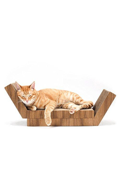 KATRIS Lynks Modular Cat Scratcher - 2 Pack, Real Teak Wood Cover