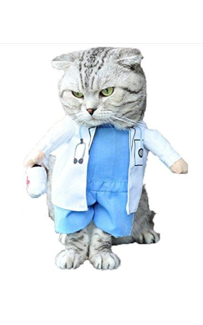 Mikayoo Pet Dog Cat Halloween Costume Doctor Nurse Costume