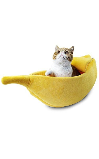 PET GROW Cute Banana Cat Bed House