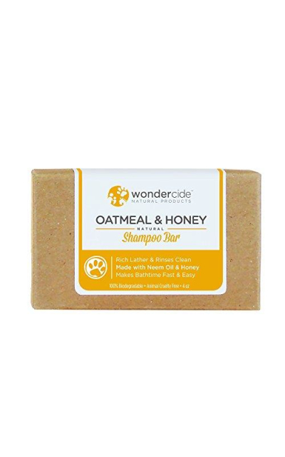Wondercide Natural Oatmeal & Honey Shampoo for Dogs & Cats 4.3oz Bars