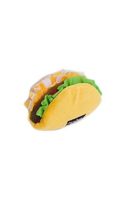 ZippyPaws NomNomz Plush Squeaker Dog Toy The Foodie Pup