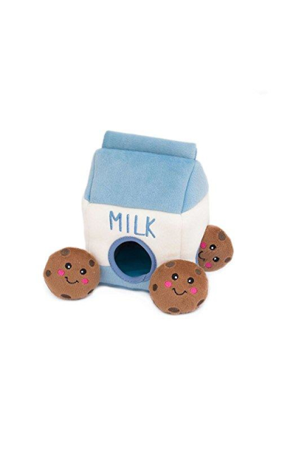 ZippyPaws Food Buddies Burrow Milk & Cookies