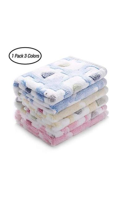 luciphia 1 Pack 3  Fleece Pet Blankets