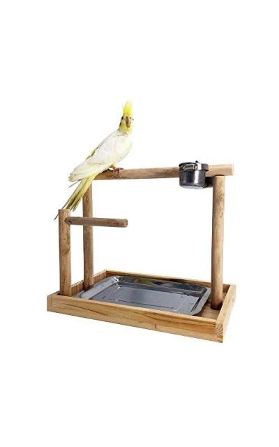 Borange Parrots Playstand Bird Playground Wood Perch