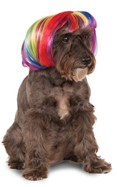 Rubies Rainbow Bob Wig for Pet