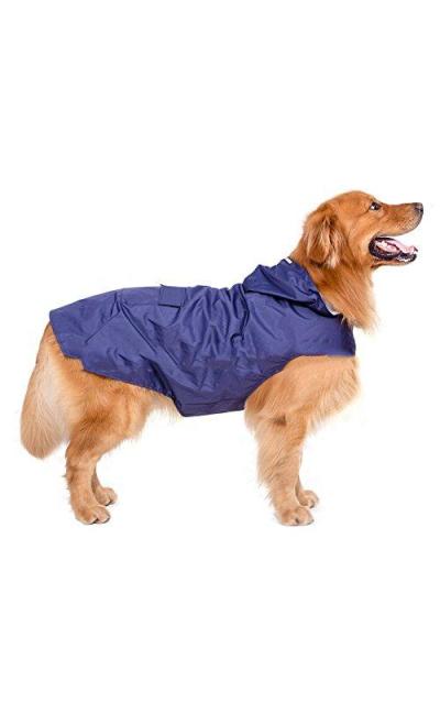 Elite fashion Nylon waterproof fabric hooded dog raincoat
