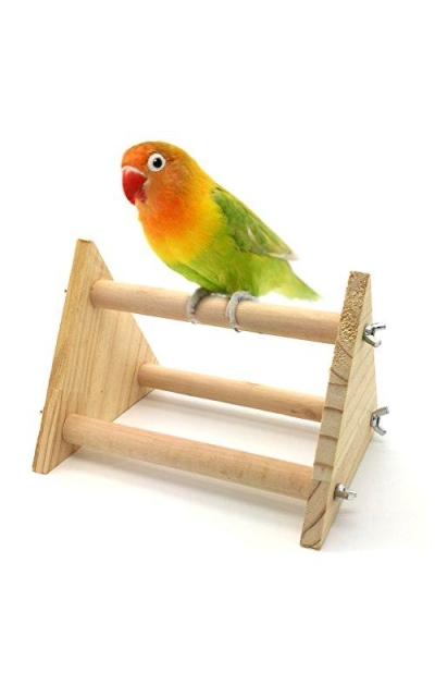 Mrli Pet Bird Table Top Stand Wooden for Small Parrot